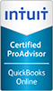 Intuit certified online pro advisior quick books logo